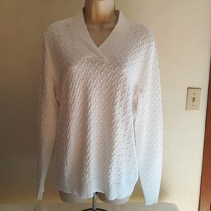 Studio Works Textured Knit Sweater